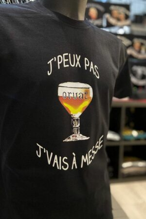 T-Shirt : J'peux pas j'vais à messe – Orval