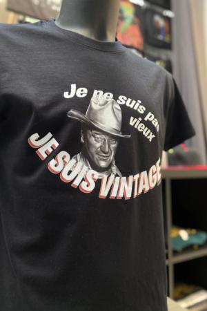T-Shirt : Je suis vintage – John Wayne