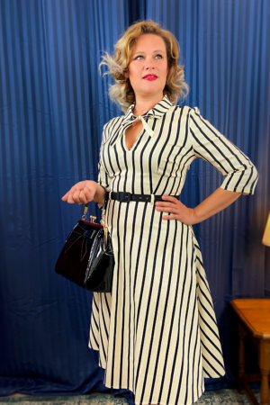 DARCEY GHOST STRIPES SWING DRESS