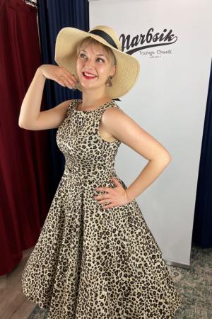 ZABRINA LEOPARD PRINT SWING DRESS