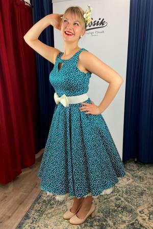 LA ROSA DOTTY SWING DRESS