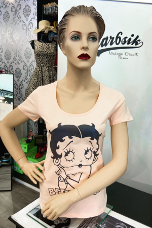 BETTY BOOP IN PINK TEE