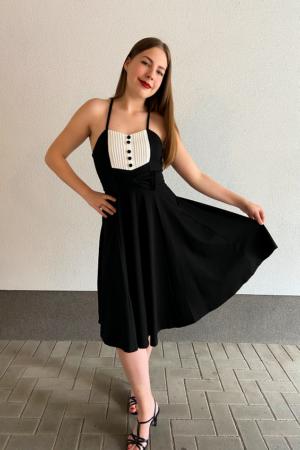 HESSY TUXEDO SWING DRESS