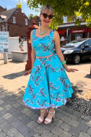 SANDRA FLORAL SWING DRESS